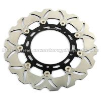 Wholesale Aluminum Billet Motorcycle Brake Disc Disk Yamaha FAZER 8 YZF R6 Black Gold from china suppliers