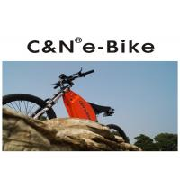 Wholesale Black Color Folding Electric Enduro Bike , Off Road Electric Mountain Bikes from china suppliers