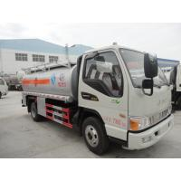 Wholesale best quality brand new 4*2 diesel 120HP JAC 1200gallon  5m3 oil truck for sale, JAC LHD fuel dispensing truck for sale from china suppliers