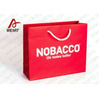 Wholesale Bright Red Color Personalised Paper Shopping Bags For Business Eco - Friendly from china suppliers