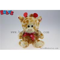 Wholesale Wholesale Price Plush Giraffe Cuddly Stuffed Toy with Lips Ribbon from china suppliers