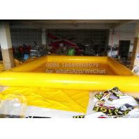 Wholesale Yellow Commercial Inflatable Swimming Pool 0.9mm PVC Tarpaulin Material With CE Pump from china suppliers