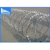 Wholesale Zinc Coated Concertina Barbed Wire For Highway / Railway Protection from china suppliers