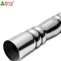 China China Manufacturer 304 Stainless Steel Decorated Embossed Pipe Support Hollow Section on sale