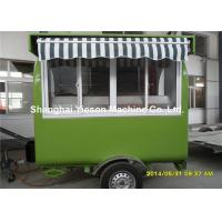 Quality Hot Dog Food Truck Mobile Cooking Trailers Dark Green With Gas Equipments for sale
