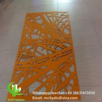 Wholesale Metal aluminum engraving screen panel laser cutting facade panel home decoration tree patterns from china suppliers
