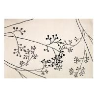 Wholesale Modern Contemporary White Wool Area Rug With Floral Pattern, Wool Dining Room Rugs from china suppliers