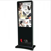 Wholesale Black Floor Standing LCD Advertising Player , Library Web Based Digital Signage from china suppliers