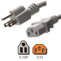 Wholesale UL Listed Computer Plug Power Cord , NEMA 5 - 15P to IEC C13 13A Power Plug from china suppliers