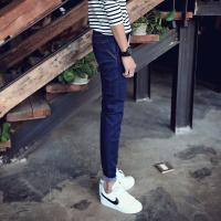 Wholesale Soft Material Mens Loose Straight Tapered Jeans 100 Percent Cotton Deep Blue from china suppliers