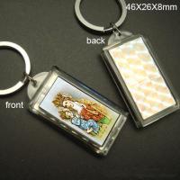 Wholesale Solar Led Keychain Logo can be imprinted  46 x 26 x 8 mm from china suppliers