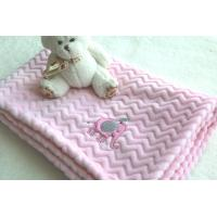 Wholesale China Factory Wholesale Pink Color Embroidered Baby Blankets for Kids from china suppliers