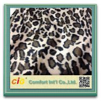 Wholesale Animal Printed Realistic Faux fur Fabric For Scarf Garment / Coat , Soft Long Pile Fake Fur Material from china suppliers