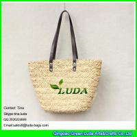 Wholesale LUDA wholesale lady's basket bag handmade water grass straw bags from china suppliers