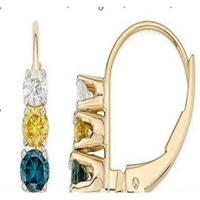 Wholesale Earring 10k gold Diamond with sapphire earrings from china suppliers
