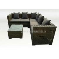 Wholesale Dark Color Soft Garden Furniture Sofa Sets With Table For Outdoor / Indoor from china suppliers