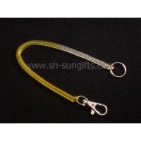 Quality Plastic spring key chains, Plastic spring mobile phone chains, promotional gift for sale