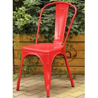 Wholesale Custom Color Colored Metal Dining Chairs , Classic Metal Tolix Chairs With Backrest from china suppliers