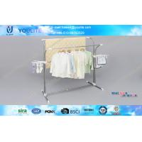 Wholesale Household Dual Rod Coat and Garment Laundry Rack / Modern Clothing Hanger Stand from china suppliers