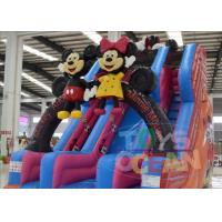 Wholesale Big Inflatable Water Slides For Pools / Mickey Mouse Inflatable Double Water Slide from china suppliers