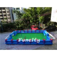 Wholesale Popular Human Table Inflatable Soccer Field 0.55mm Pvc Tarpaulin from china suppliers