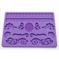 Wholesale Gift Purple Silicone Dessert Molds , Rectangle Cake Molds For Kids from china suppliers