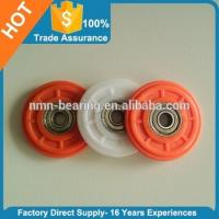 Quality Carbon steel bearing with plastic covered pulley 604ZZ 605ZZ 606ZZ 608ZZ 625ZZ 626ZZ 695ZZ 696ZZ for sale