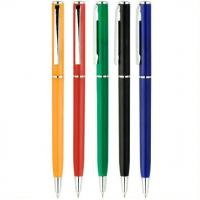 Quality slim style twist hotel use printed gift logo plastic pen, hotel plastic ballpoint pen for sale