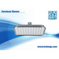 Quality ABS Square Rainfall Shower Head Chrome Plated , Overhead for adult for sale