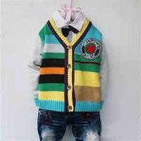 Buy cheap Long sleeve cute knitted kids pullover sweater,  chunky knit sweater for Autumn from wholesalers