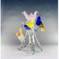 Wholesale Handblown glass sculptures,glass birds ,DJ-8020 from china suppliers