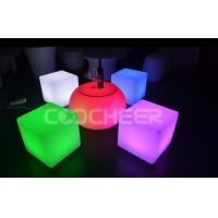 Wholesale Modern Waterproof Coffee Table Led Chair Illuminated Cube Furniture For Bars And Clubs from china suppliers