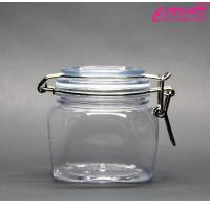 Wholesale Square kilner jar, plastic bail jar, plastic kilner jar facial mask jar 350g from china suppliers