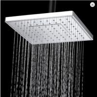 Wholesale 8 Inch Waterfall Shower Head Ceiling Mount , Hotel Silver Large Rain Head Shower from china suppliers