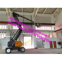 Wholesale 18m Folding 2500mm Wheelbase 4 Wheels Hydraulic Aerial Work Platform GTBZ18A1 from china suppliers