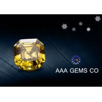 Wholesale Colored Yellow Moissanite Asscher Cutting Shape In Middle Size 9 MM from china suppliers