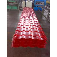 Wholesale Custom Red or Orange Metal Roofing Sheets , Trapezoidal Steel Sheet Waterproof from china suppliers