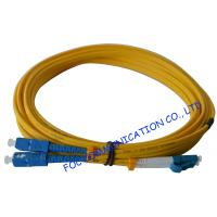 Wholesale SC To LC SM Optical Fiber Patch Cord 9/125 Single Mode 3.0mm For WAN Systems from china suppliers