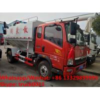 Wholesale High quality and good price China-made SINO TRUK HOWO 120hp 4T bulk feed truck for sale, animal feed delivery vehicle from china suppliers