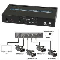 Wholesale SDI 4x1 Hdmi Multiviewer Seamless Video Switcher Scaling 1080P IR Remote 100m from china suppliers