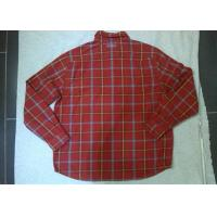 Wholesale Casual Fleece Casual Mens Checked Shirt , Long Sleeve Shirts For Men from china suppliers