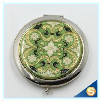 Buy cheap Shinny Gifts Promotion Gift Folding Custom Printed Metal Compact Mirror from wholesalers