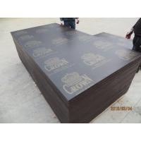 Buy cheap CROWN BRAND,BROWN FILM FACED PLYWOOD,18MM FILM faced plywood, marine plywood, shuttering plywood.concrete formwork, from wholesalers