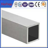 Wholesale China top aluminium square tube standard size,customized size aluminium hollow tube from china suppliers