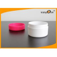 Wholesale HDPE Cosmetic Packaging White Face Cream Jar With Red Screw Lid 60g Plastic Small Jars from china suppliers