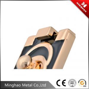 Quality Hight technic black drip glue metal handbag lock,retangular 50.58*36.75mm purse lock for sale