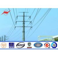 Wholesale Round Tapered Galvanised Steel Power Transmission Poles / Electrical Power Pole from china suppliers