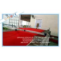 Wholesale E - PVC Red Mat Making Machine / Fluffy Plastic Mat Rolling Production Line from china suppliers