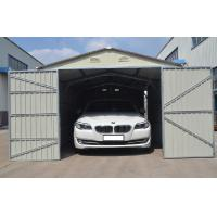 Wholesale Silver White Modular Steel Garages Kits With Color-coated Steel Wall , Double Swing Door from china suppliers