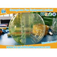 Wholesale TPU Inflatable Bumper Ball Half Color Human Sized Soccer Bubble from china suppliers